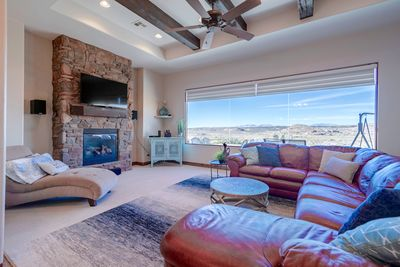 Family room with large picture window.