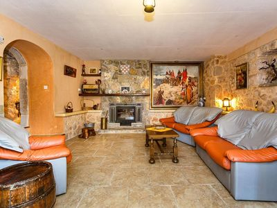 Photo for 4 * stone house with pool, barbecue, table tennis, children's playground for 16 people