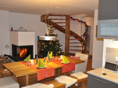 Photo for Luxurious holiday home with private sauna and fireplace on 2 floors next to ski lift