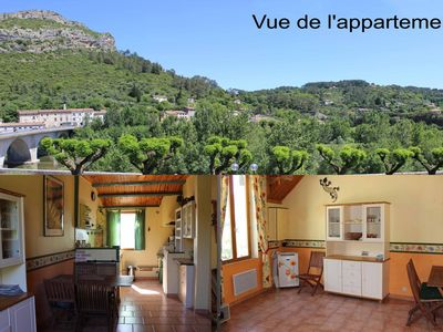 Photo for Very nice apartment / p3, all comfort, center Anduze, river view