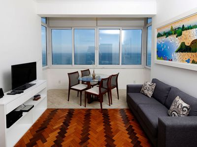 Photo for Rio079 - Beach front apartment with three bedrooms in Copacabana