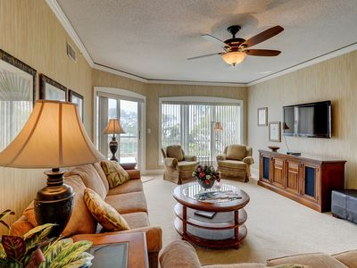 Photo for 4305 Windsor Court North has amazing views of the gardens, pools, and ocean!