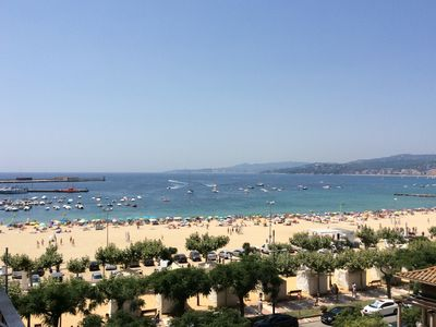 Photo for Palamos Costa Brava facing the sea and beach view over the large bay