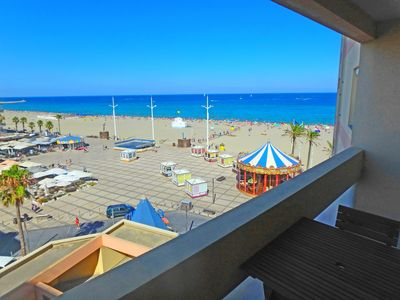 Photo for T. beautiful studio 30m ² terrace, full renovated center, splendid sea and Canet views