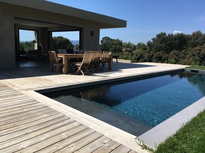 Photo for GRIMAUD · Beauvallon villa 5 chs pool view of exceptional sea golf. Beach at 900m