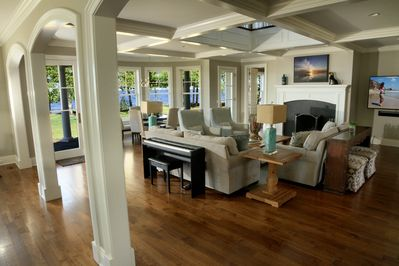 Large living spaces with a view of the bay.