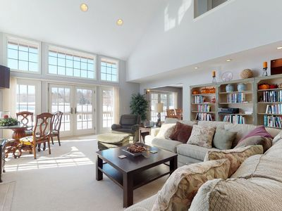 Photo for Countryside home w/ golf course views, expansive deck- clubhouse access!