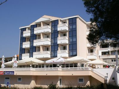 Photo for One bedroom apartment with balcony and sea view Seget Vranjica, Trogir (A-3079-b)