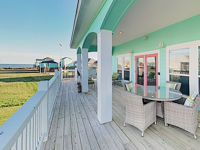 Photo for New Listing! Custom Beach Home w/ Gulf-View Balcony - Steps to Sand