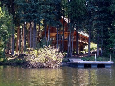 Photo for Beautiful Lakefront Log Home on Wooded 5+ Acres at Knouff Lake