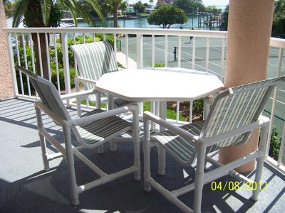 Back deck with Boca Ciega Bay in background.