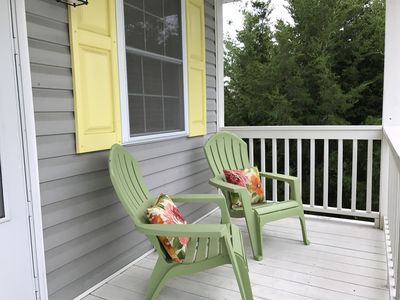 Front porch offers beautiful sunset and marsh view