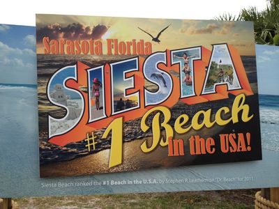 Siesta Key beach designated the #1 Beach in the USA by Dr. Beach!
