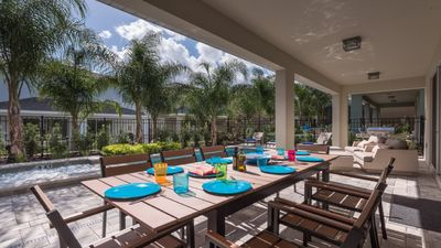 Photo for Grill/Private Pool&Spa/Including water park/Free shuttle to Dsiney/New home