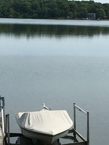 Photo for Cape Cod Style lake home with beach front - only 1 hour from Minneapolis MN.