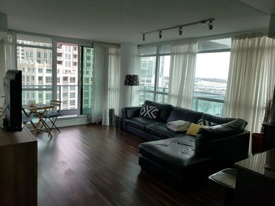 Photo for Free parking~ Spacious 2 Br 2 Bath luxury condo in FortYork (corner unit)