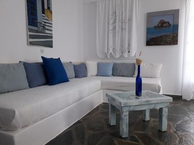 Photo for Dina two-room apartment with panoramic views of the sea and Naoussa