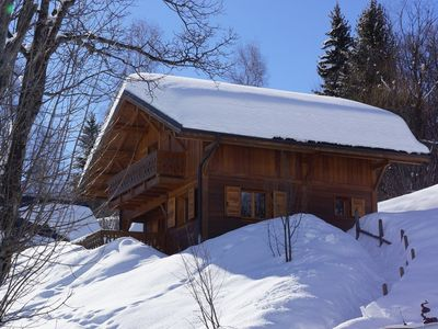 Photo for Nice chalet, ski in ski out on the Sybelles ski area