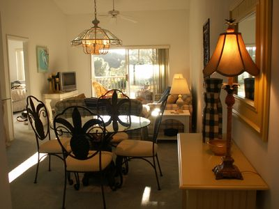 Sunny Living Room & Lanai, Cathedral Ceilings