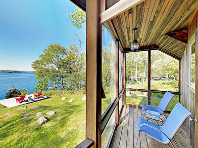 Photo for Waterfront Paradise w/ Dock, Big Yard, Sundeck & Epic Bay Views -- Near Town