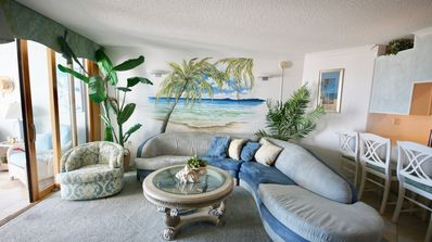 Photo for Beautiful Ocean Front,  2 bedroom , right on the Beach, with a pool