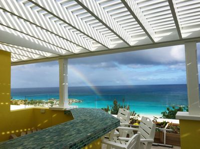 You too may find a rainbow from the comfort of the bar sitting area.