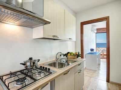 Photo for Belmare Beachfront Apartments – Granchietto  1-bedroom Apartment