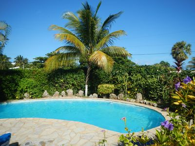 ...Tropical garden pool...at Cabarete  Vacation Villa...