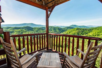 Awesome views from either of the 3-balconies from the cabin.