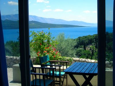 Photo for Apartment with stunning sea views in Villa del Arte, Lefkas, up to 4 people