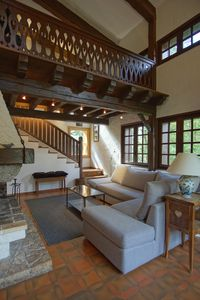 Lounge with Mezzanine and Fireplace