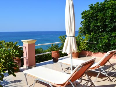 Photo for Irene apartment, Paramonas beach, 20 meters from the sea