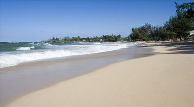 Paia Bay Beach, just a 5 minute walk