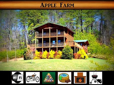 Photo for Apple Farm} Private \ pool table \ hot tub \ fire place \ country feel