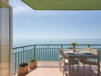 Photo for First Line Beach Apartment with unbeatable views to the sea in well sought area.
