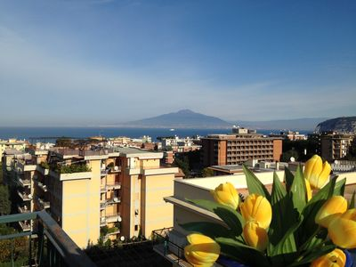 Photo for Apartment Sun in Sorrento Center with a view