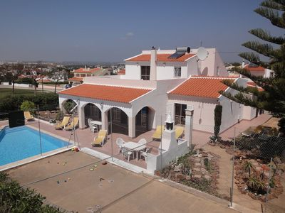 Photo for Spacious Child Friendly modern Villa, Private Pool, Sea view, Games Court