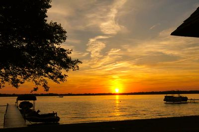 We see the sunset every night from the East side of the Lake