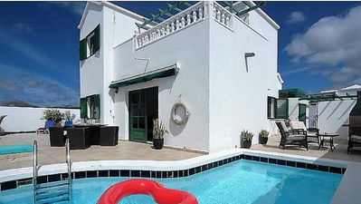 Photo for Villa Blue skies 2, villa with private pool, 10 minute walk to beach/main strip