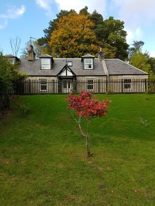 Photo for Secluded ex-Balmoral Estate cottage, modernised, child/pet friendly.