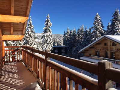 View from balcony in January