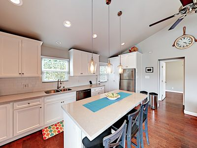 Kitchen - Greet the day with a cup of coffee at the kitchen island for 4.