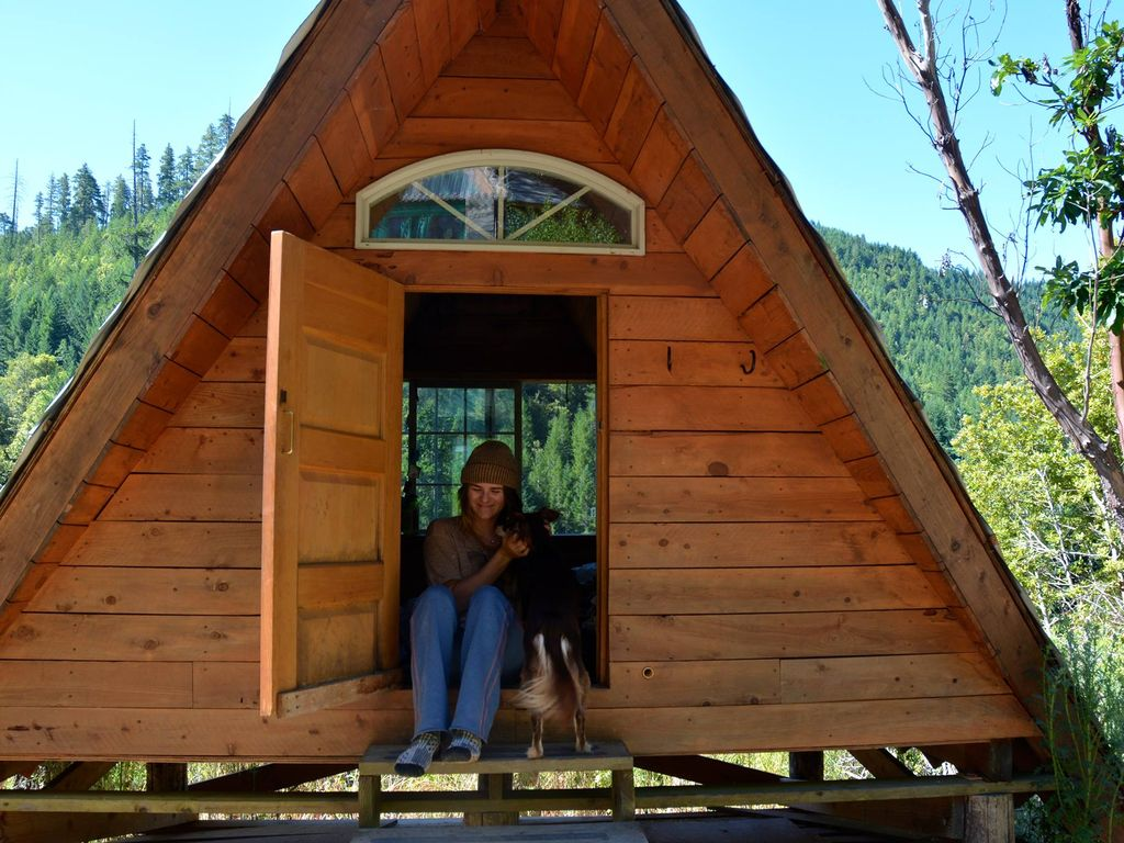 A Frame Off Grid Rustic Cabin