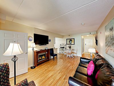 Photo for Beautiful Mountain Views! All-Suite, Just 500' from Trolley, Walk To Downtown