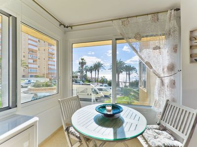Photo for Beautiful Holiday Apartment Torrox Close to the Beach with Sea View, Wi-Fi, Tennis Court, Shared Garden & Shared Pool