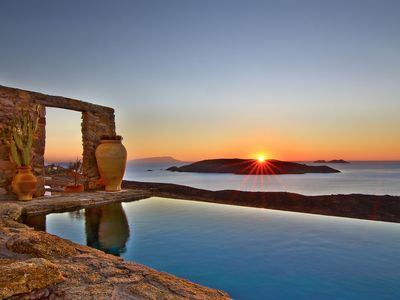 Photo for ABSOLUTE privacy , BREATHTAKING views , STUNNING architecture Mykonos villa