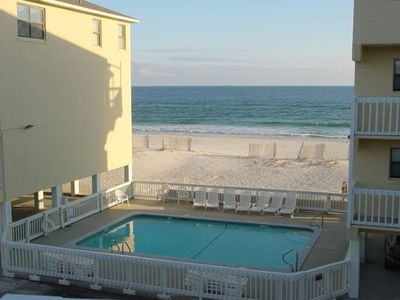 Photo for Great Gulf Views - Balcony Overlooks Pool and Gulf,  100 ft to the san