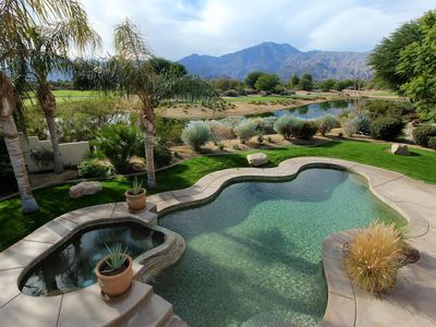 Photo for Unparalleled mountain views from private pool - PGA West Luxury Executive Home