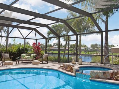 Photo for Casa Corazon Cape Coral vacation home,great area 3 bedrooms, 2 baths gulf access with huge lanai and
