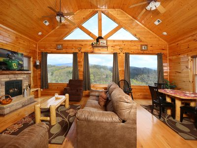Photo for Cabin with Amazing Mountain Views Arcade, Pool & Table Hot Tub 2BR/2BA